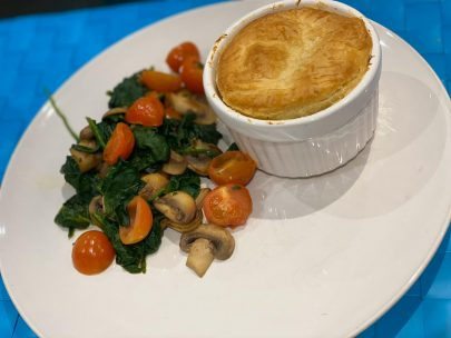Pie and veg